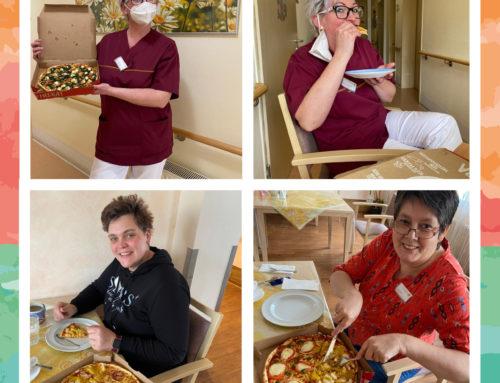 Pizza-Party in der Fürsorge im Alter Seniorenresidenz Christian in Aschersleben