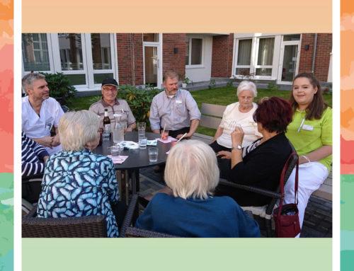Ein entspannter Abend nach einem ereignisreichen Tag für die Bewohner in der Seniorenresidenz Weißensee